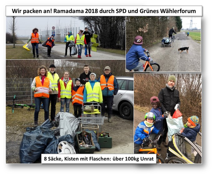 Ramadama 2018 SPD und Grünes Wählerforum